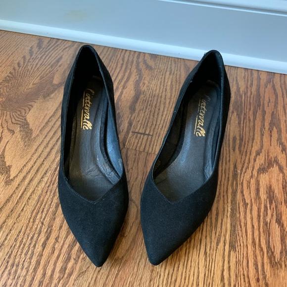 60b0d9d67c3c4 L'Intervalle Shoes | Lintervalle Black Suede Low Heels Nwot 388 ...